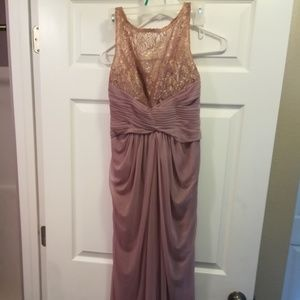 Dusty Lavender Gown with Lace Top Size 1/2